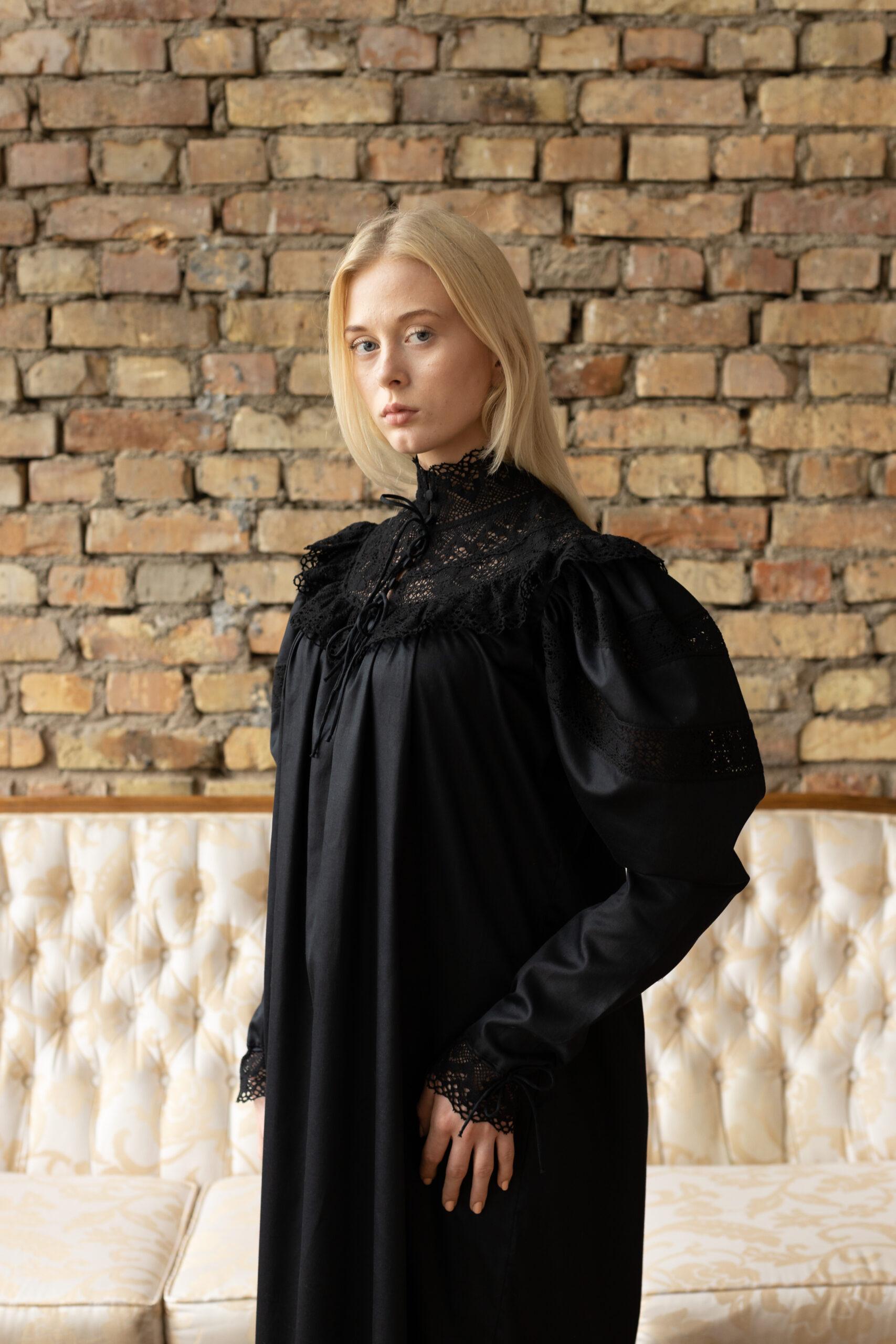 Edwardian Winter in Black
